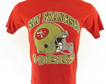 Vintage 80s San Francisco 49ers T-shirt M Deadstock Thin 50/50 Football [H45P_0-6]