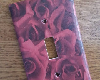 Red Roses Switchplate Cover - light switch, outlet, double, triple, rocker, slider Valentine's Day Decor