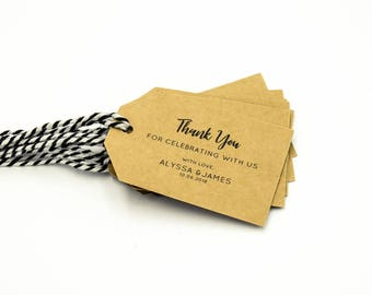 Wedding Favour Tags Customised Wedding Thank You Tags Personalised Wedding Favours