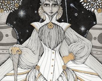 White Queen - print