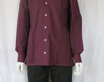 Pleated cotton shirt