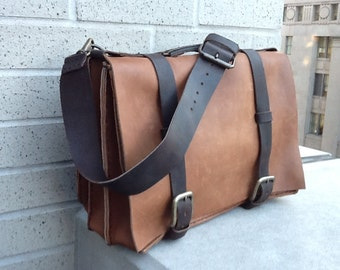 Business briefcase, Large leather mens briefcase, Mens business bags, Triple gusset briefcase, Men work bag, Professional leather bag