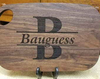 Personalized Cutting Board, Monogramed, Engraved, Wedding Gifts, Anniversary Gifts, Custom Made, Shower Gifts, Wood Cutting Board