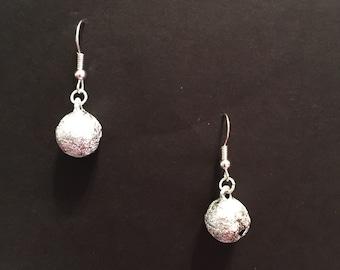 Medium Silver Bell Earrings