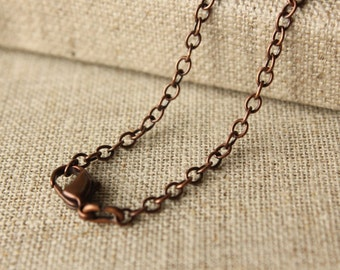 18, 20, 24 inches Antiqued Copper finished chain 2x3mm