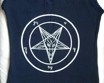 Navy blue Pentagram customized shirt