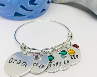 Grandmother birthstone jewelry mothers day, Personalized grandma jewelry, Grandmother bracelet birthstones, Personalized grandmother jewelry