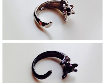 Cat   Lucky   Cute   Statement   Wrap Around Ring