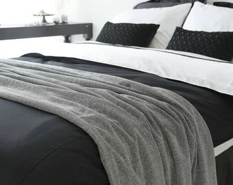 Silver Metallic Bed Runner Bed Scarf