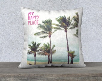 Throw Pillow Covers | Beach House Decor | Pillows with Sayings | Pillow Covers 18x18 + 22x22 | Pillows with Words | Quotes Inspirational