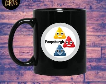 Cleveland Browns, Baltimore Ravens, Cincinnati Bengals, Poopsburgh Steelers, Funny Mugs, Coffee Mug,  Funny Coffee Mug,  Sarcasm, Gag Gift