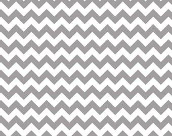 """End of Bolt - 13""""x44"""" of KNIT - Gray Small Chevron From Riley Blake Fabrics"""