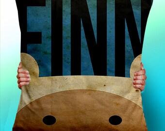 Adventure Time Finn Face - Cushion / Pillow Cover / Panel / Fabric
