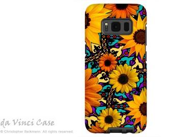 Sunflower Galaxy S8 Case - Colorful Floral S 8 Case with Artwork - Sunflower Talavera - Premium Dual Layer Case by Da Vinci Case