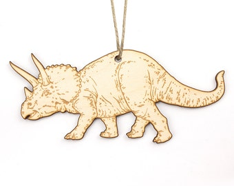 Triceratops Christmas Ornament