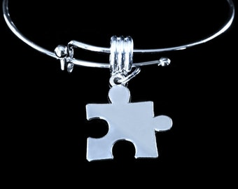Autism awareness bracelet Autism bracelet Autism Jewelry Autistic awareness Jewelry  Puzzle piece bracelet Puzzle Jewelry