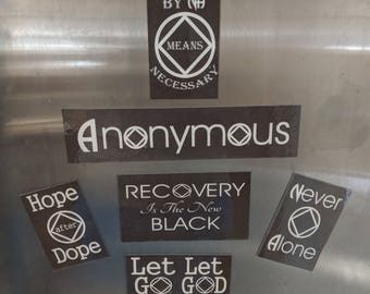 Multi pack of 5 Narcotics Anonymous magnets