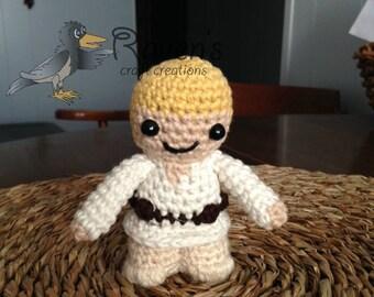 Luke Skywalker Inspired Amigurumi doll- MADE to ORDER- Star Wars Inspired dolls
