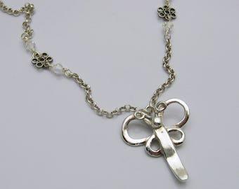 Handgefertigte Libelle Halskette, Silber Libelle, moderne Libelle Kette, einfache Libelle Halskette, Libelle-Liebhaber, handgefertigt