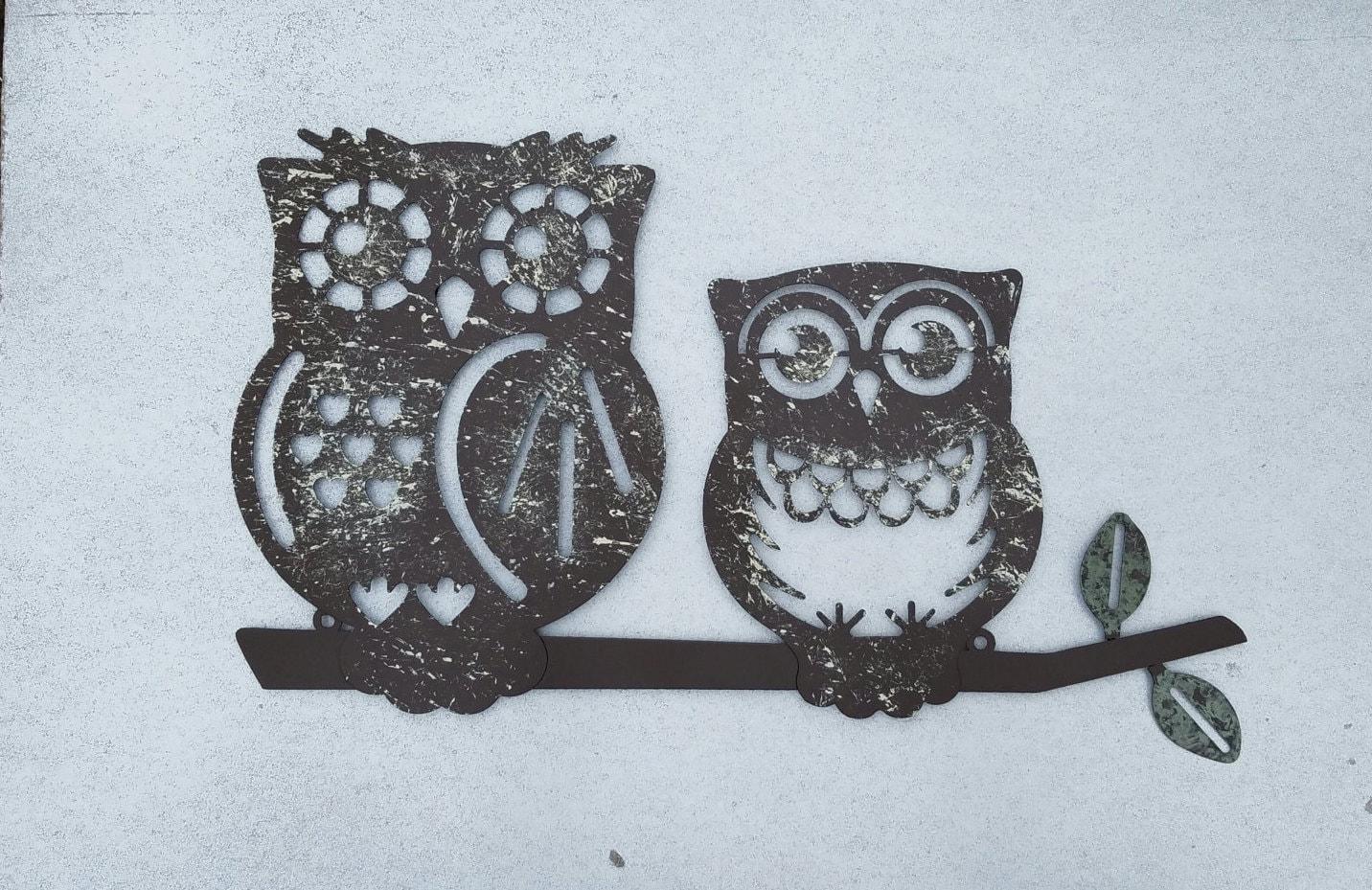 Metal Wall Art / Owl Home Decor / Owl Wall Art / Owl Wall