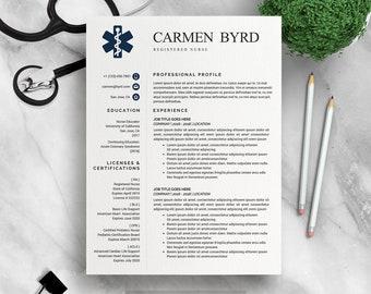 Rn Resume   Nurse Resume Etsy