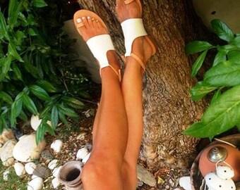 "Greek Leather Sandals ""lydia"" code #170"