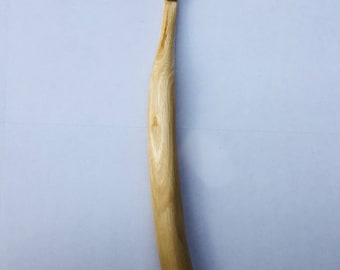 8.5mm Hand Carved Eucalyptus Wood Crochet Hook