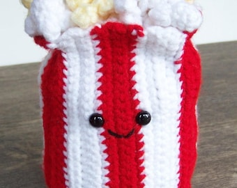 Crochet Popcorn Food-Amigurumi Play Food-Crochet Pretend Food-Amigurumi Food Plush-Amigurumi Popcorn-Crochet Popcorn-Crochet Food-Play Food