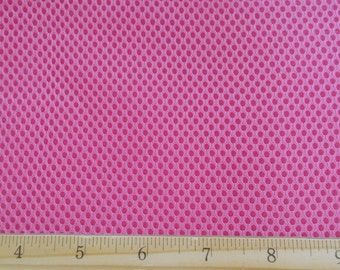 """60"""" Wide Padded Foam Mesh Fabric PINK Auto Upholstery Bags Shoes Backpacks Straps Crafts Spacer"""