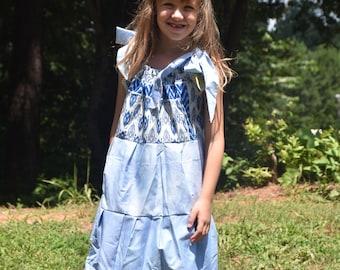Little Girl Pillowcase Dress, Party Dress, Heirloom Dress, Flower Girl, Girl Ruffle and Lace Dress, Vintage Style Dress, Child Sundress