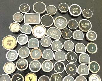 Vintage TYPEWRITER Keys Lot 50 Keys Lot 10