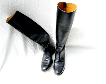 RESERVED /// Vintage BLACK riding Boots from England///