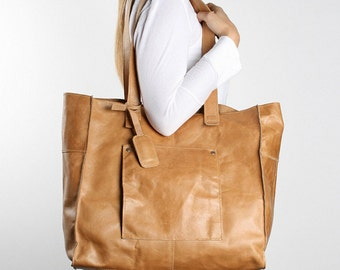 Leather Tote Bag - various colours