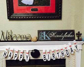 Bowling Birthday Banner