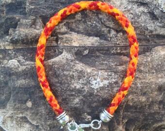 8 Inch Dyed Horse Hair Braided Horsehair Bracelet -  6MM Basketweave Braid