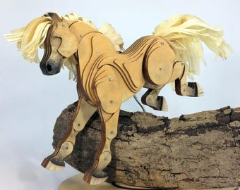Articulated Palomino Horse