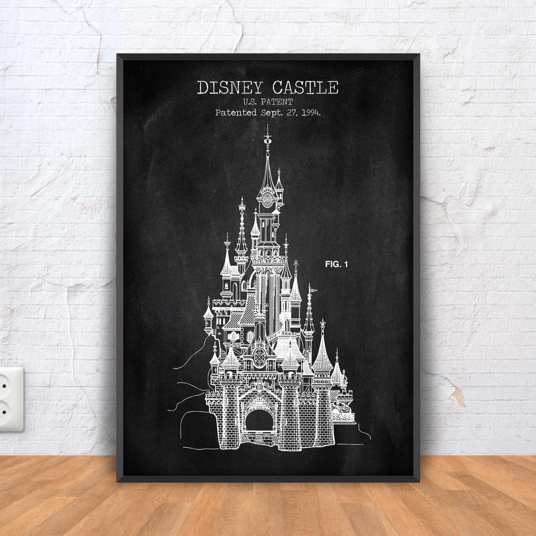 Disney castle patent print cinderella castle poster disney zoom jeuxipadfo Choice Image
