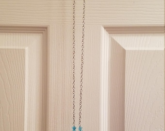 Shades of Blue Beaded Dream Catcher Necklace