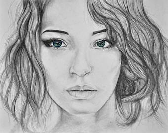 Custom Original Graphite Portrait Drawing