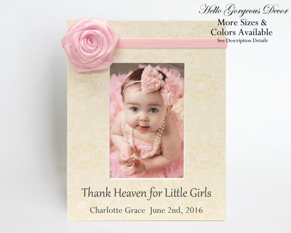 New baby girl gift personalized picture frame newborn baby keepsake new baby girl gift personalized picture frame newborn baby keepsake gift to new parents custom photo frame pink nursery decor ideas present from negle Image collections