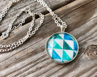 Half Square Triangles Quilt Block Necklace Gift for Sewers Quilters Sewing Quilter Birthday Gift Barn Quilt Trail