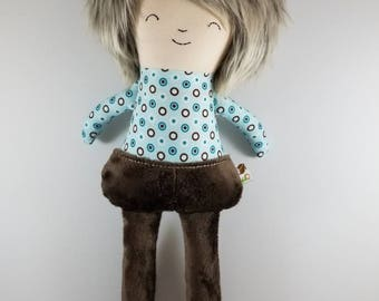 Unique - One of a Kind - Handcrafted Cloth Boy Doll - Ready to Ship