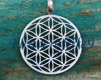 Flower of life pendant (seven circles) 5/8 inch - Stainless Steel