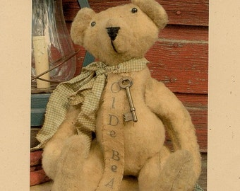 Primitive Bear E-Pattern  Doll Folk Art Raymond OFGTeams Teddy Bear Pattern