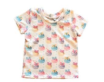 Girls basic T shirt .... swans .. unicorns ..