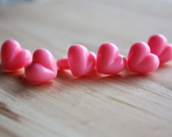 13mm, Safety Noses, 20 pcs, Heart Shape, for Stuffed Animals, Amigurumi toys