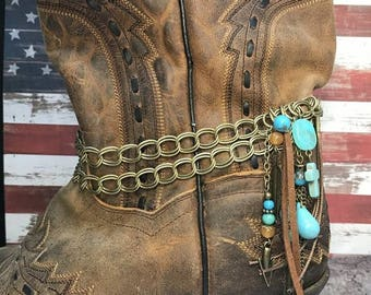 Boot Jewelry : Fused Turquoise Charms