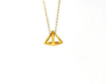 Geometric Triangle Shaped 3D Pendant