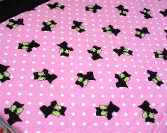 I Heart Scotties Cozy - Reversible Pet Blanket
