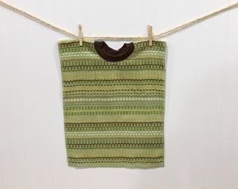 Towel Bib, toddler bib, pull over towel bib, green terry towel bib, baby and child care, baby feeding, large bib, boy bib, baby gift